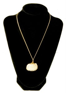 Image of Give Me Shellter, Limited Edition, Vintage Gold-Painted Sea Shells