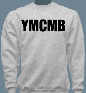 Image of YMCMB Crewneck Sweater Black/Grey S-XL