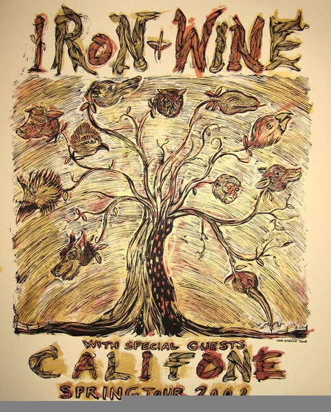 Image of Iron and Wine / Califone Tour poster