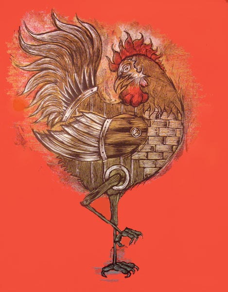Image of Year of the Rooster art print