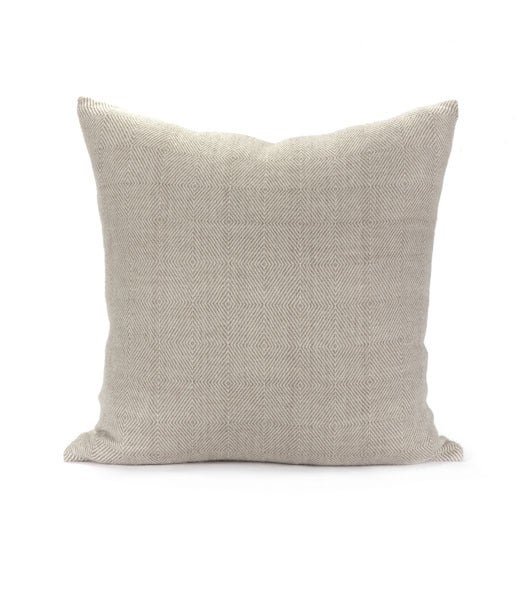 Image of DAKAR PILLOW dark linen | oyster