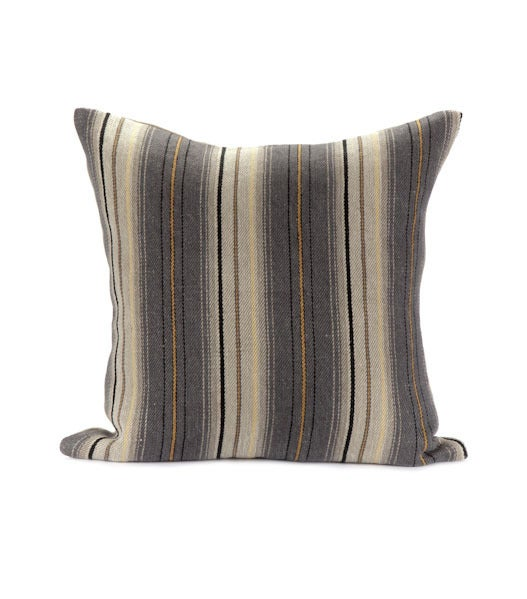 Image of HOPI STRIPE PILLOW slate