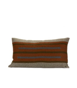Image of SABA CHIEF PILLOW persimmon/ mole 12x22