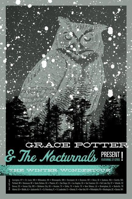 Image of Grace Potter & The Nocturnals - Winter Wondertour '11 (Steel Blue)