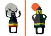 Image of Pack of 2 Greetings Cards: Witch Man & Deer Man