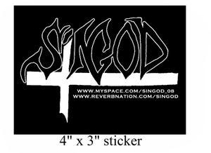 Image of B & W Singod sticker