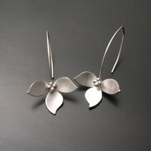 Image of Lotus Earrings-silver