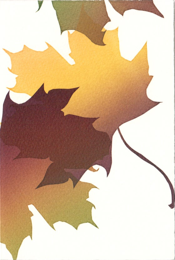 Image of Autumn leaves card