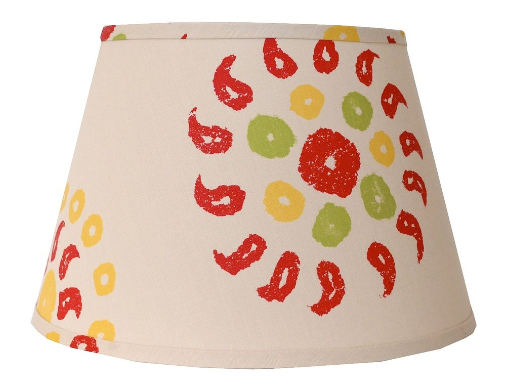 """Image of 18"""" Marrakech Lampshade: Natural/Cherry Red"""