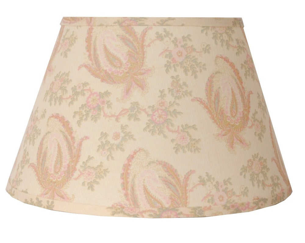"Image of 16"" Paisley Stripe Lampshade: Pink"
