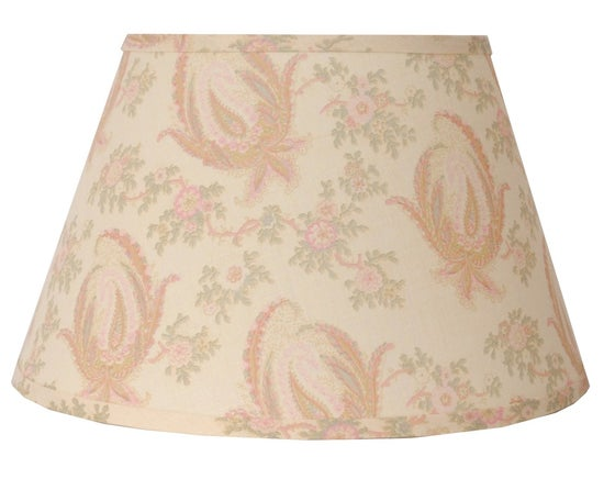 "Image of 16"" Paisley Stripe Lampshade: Pink"