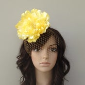 Image of Ready to Ship Today! Yellow peony rose & Veil