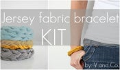 Image of jersey fabric bracelet kit