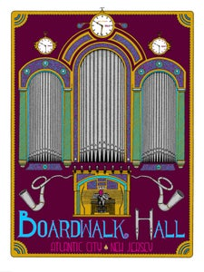Image of Atlantic City Boardwalk Hall Halloween fan art print