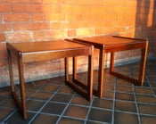 Image of Pair of Retro Teak Side Tables
