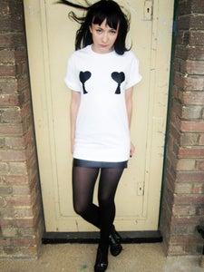 Image of SMUT tassel heart t-shirt