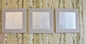 Image of silvered linen panel