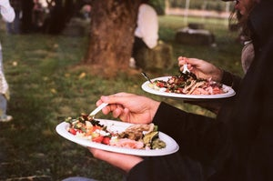 Image of a farm meal, 5x7 print