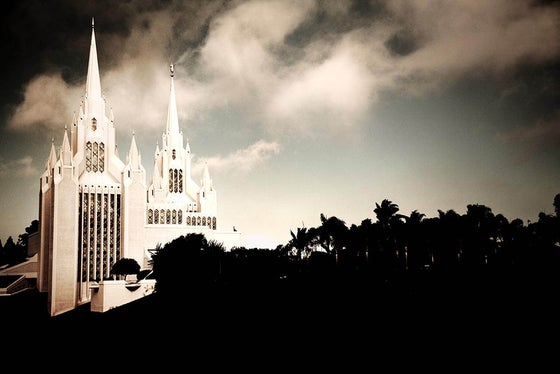 Image of Sandiego Temple at Dusk