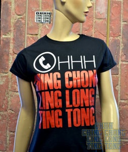 Image of OHHH Ching Chong Ling Long Ting Tong Womens Fit-Shirt ( Black )