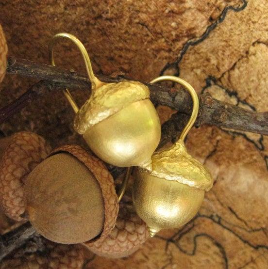 Image of Acorn Earrings 18K Gold