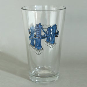 Image of Manhattan Bridge Pint Glass
