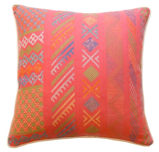 "Image of Tangier Peony Multi Single Sided 22"" Pillow"