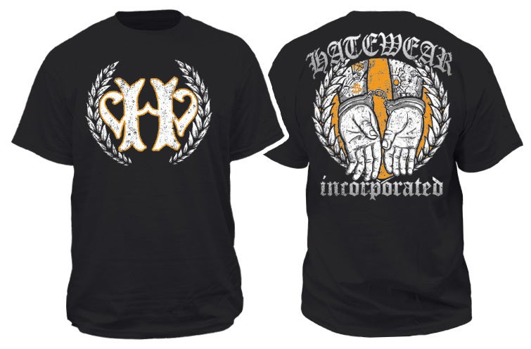 Image of HATEWEAR HANDCUFFS BLACK TEE
