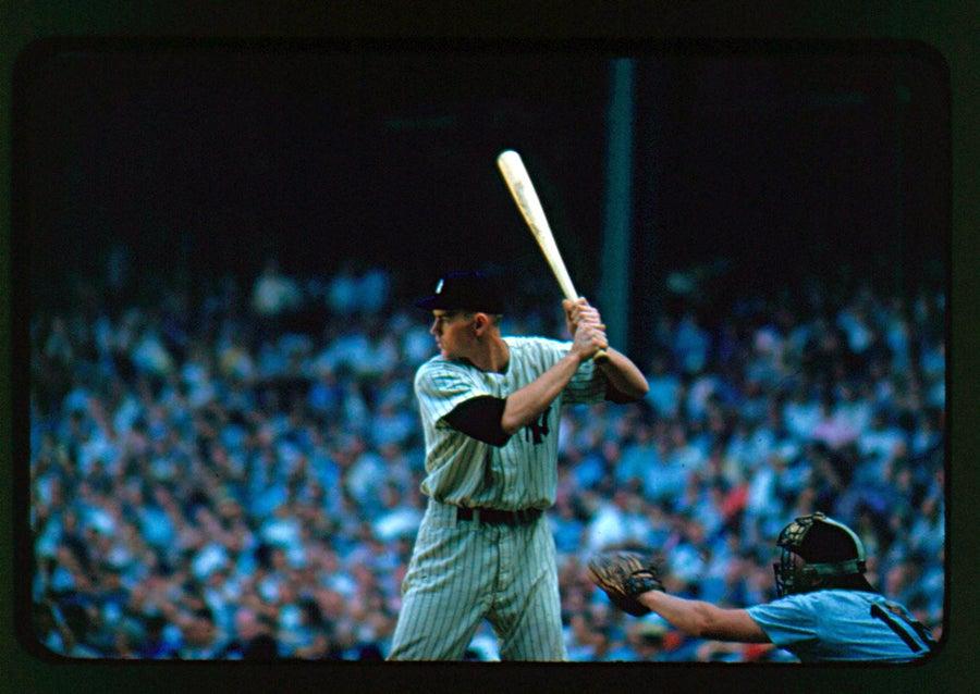 Image of Mickey Mantle Era Yankee At the Bat