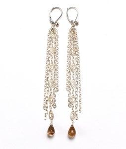 Image of Long Silver Chain Earrings