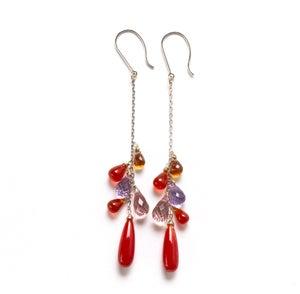 Image of Coral Drop Earrings in 18kwg
