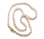 Image of Pearl Necklace with 18kyg Clasp