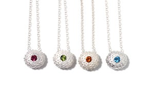 Image of Silver Sea Urchin Necklace