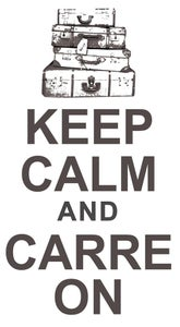 "Image of ""KEEP CALM AND CARREON"" WHITE T"