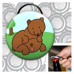 Big ass bear keychain bottle opener - Sick Animation Shop