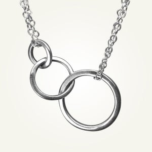 Image of Saturn Necklace, Sterling Silver