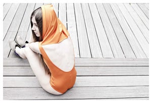Image of Hooded swimsuit