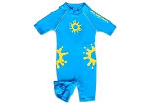 Image of SunSplash Baby UV Sunsuit WITH MATCHING LEGIONNAIRE HAT- Reduced from €37.50