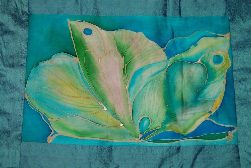 Image of Kindness Meditation Cushion - Handpainted Silk