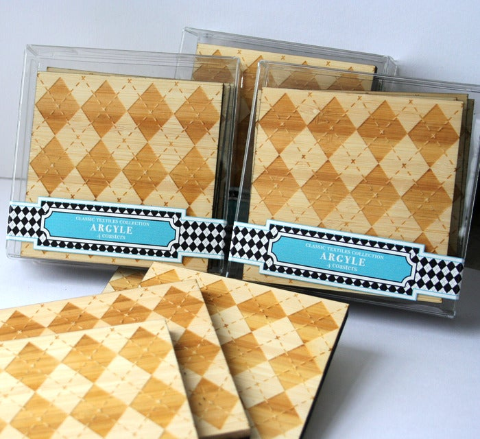 Image of Classic Textile Coasters: Argyle
