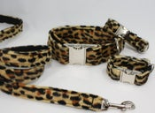 Image of Leopard Print Dog Leash - dark on UncommonPaws.com