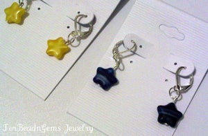 Image of Lil Plum Stars Earrings