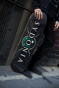 """Image of Sydonia """"Logo"""" Skateboard Deck (Different sizes/colours)"""