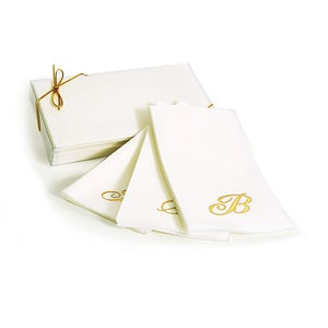 Image of Monogrammed Paper Guest Towels