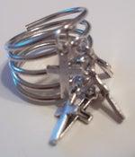 Image of Spiral Cage Drip Dangle Rocker Stack Ring