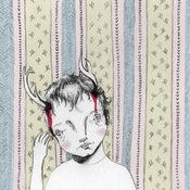 Image of Boy with Antlers Illustration Giclee Art Print