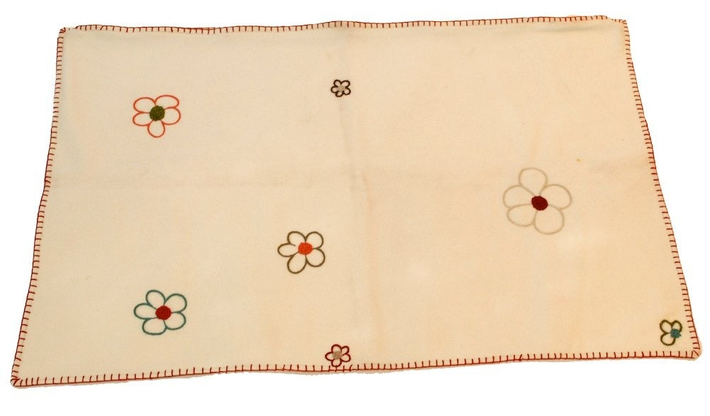 Image of Wool Embroider Pillow Cover