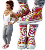 Image of Neon print sneakers