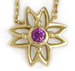 Image of Pink Sapphire Flower Necklace