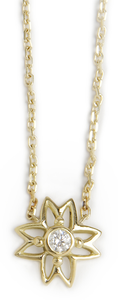 Image of Diamond Flower Necklace